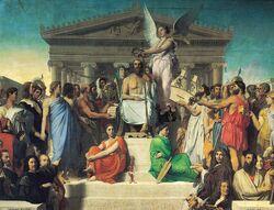 Jean auguste dominique ingres apotheosis of homer 1827.jpg