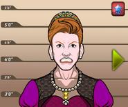 Queen of England mugshot
