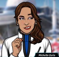 Michelle con un abrigo de invierno 2