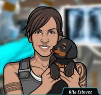 Rita Sosteniendo a su cachorro, Hector5
