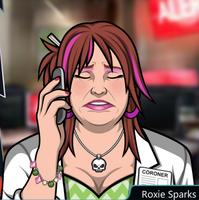 Roxie Con el teléfono, lamentandose