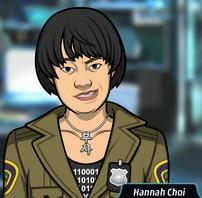 Hannah Luciendo una sonrisa maligna 1