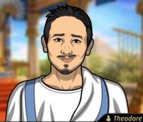 Theo Llevando una toga del Antiguo Egipto1