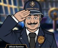Agente Ramírez en La Muerte es un Cabaret
