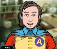 Alex siendo el Señor Increíble