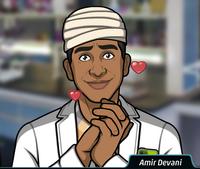 Amir Llevando un vendaje en la cabeza2