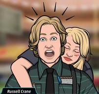 62 Amy Siendo escoltada por Russell Crane