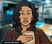 Carmen con un documento