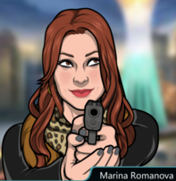Marina Con su pistola 4