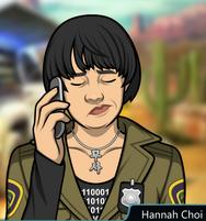 Hannah Con el teléfono, estresada