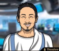 Theo Llevando una toga del Antiguo Egipto2