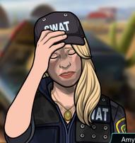 Vestida Aliviada con un uniforme SWAT
