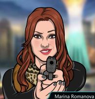 Marina Con su pistola 3