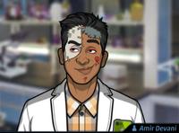Amir Usando un maquillaje de zombie1