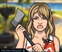 Martine Con el atuendo y la peluca de Cindy McMinn1