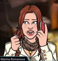 Marina Con el teléfono