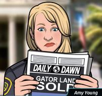 34 Amy leeyendo el Periodico