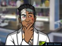 Amir Usando un maquillaje de zombie3