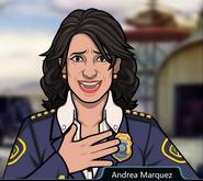 Andrea Marquez close call