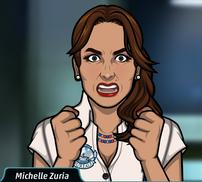 Michelle enojada 2