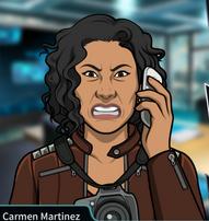 Carmen en el telélono enojada 2
