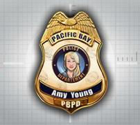 99 La Placa de policía de Amy