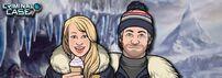 Amy y Frank en una promocion en White Peaks