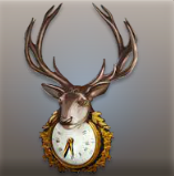 Stylish Deer Clock