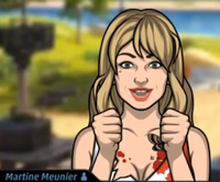 Martine Con el atuendo y la peluca de Cindy McMinn2