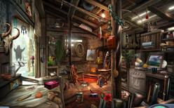Interior de la Choza