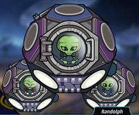 Randolph en su nave
