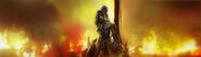 41 Maria siendo asesinada siendo quemada, por brujeria en los Muelles del Peregrino, como se muestra en la imagen del capitulò 3 de Ashes to Ashes (Caso