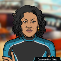 Carmen con un traje de buceo