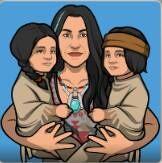 Shanaya con sus hijos