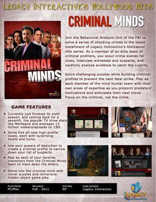 Criminal Minds/Game