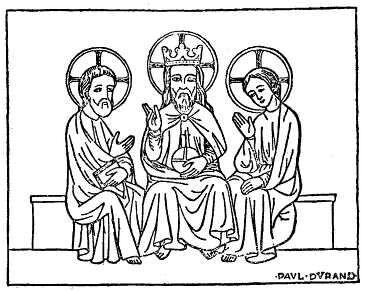 Santíssima Trindade em miniatura francesa do século 14