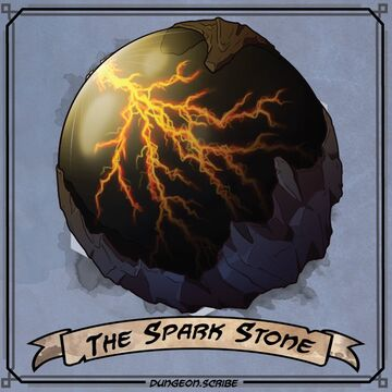 Spark Stone Critical Role Wiki Fandom There is no door to open but the key is rather a passive attunement much like the drakefire amulet. spark stone critical role wiki fandom