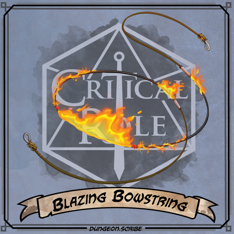 Blazing Bowstring Critical Role Wiki Fandom We have collected a total of 93 best rated fonts, this means you can generate 93 cool text png images at a time. blazing bowstring critical role wiki