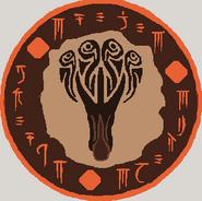Tiamat, Scaled Tyrant (Lokharic Script) b