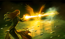 Fan art of Keyleth and Pike taking out Sylas with a Sunbeam