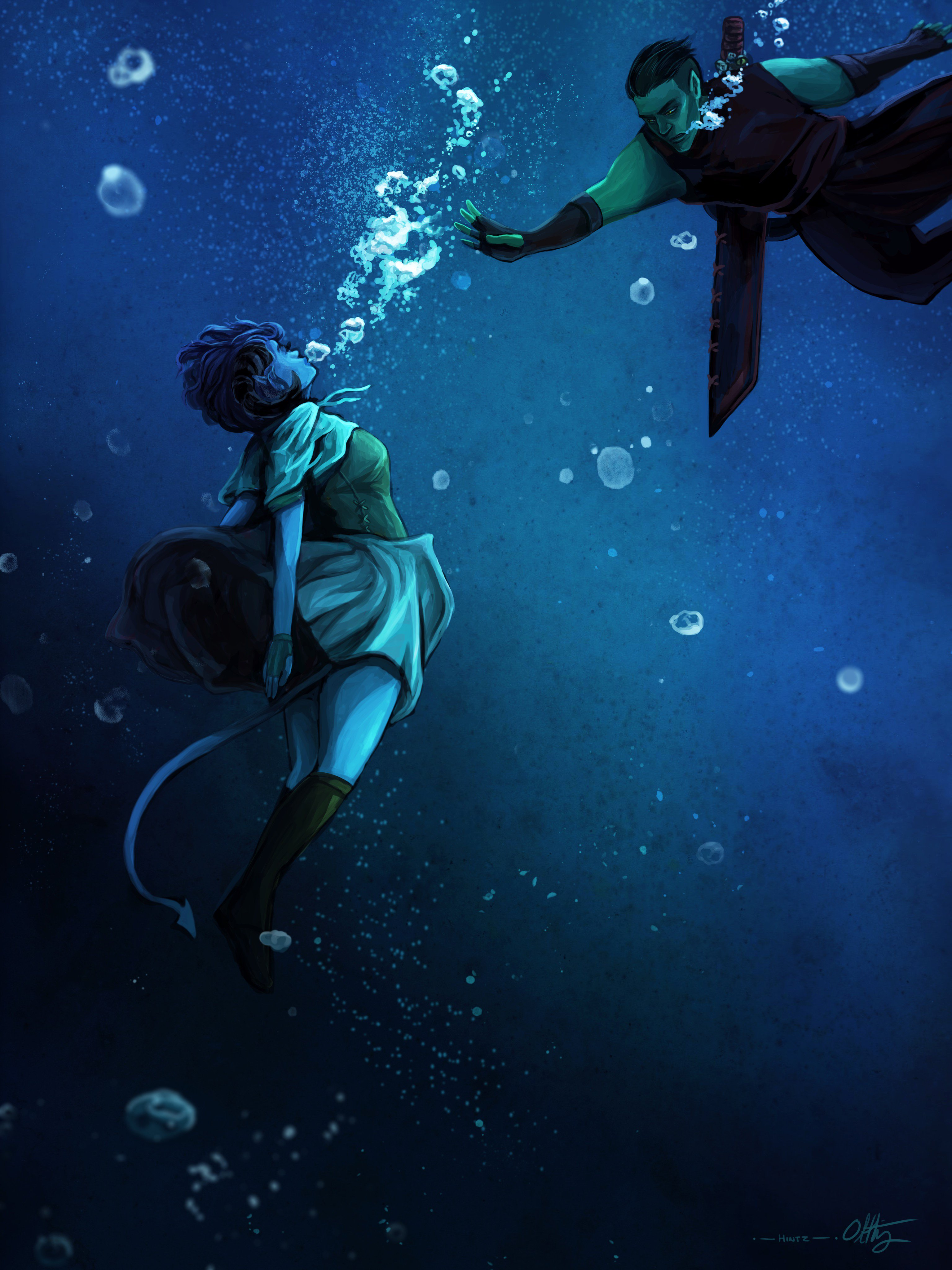Fjord rescuing the drowning Jester - Olivia Hintz.jpg