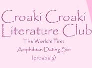 Croaki Croaki Literature Club!