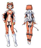 Mary Uniform Front Back