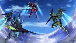 Cross Ange ep 11 The Three Ryuu-Shin-Ki in Destroyer Mode.jpg