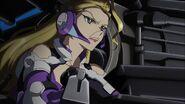 Cross Ange ep 03 Zola commanding her Troop