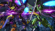 Cross Ange ep 24 Hekiryugo battling Eirene Extended Version