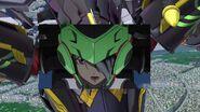 Cross Ange ep 21 Chris piloting Theodra