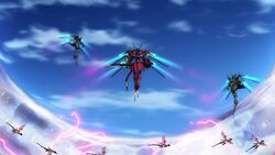 Cross Ange ep 11 The three Ryuu-Shin-Ki's first apprearance.jpg