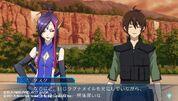 Tusk and Naga gameplay scene in Cross Ange TR.