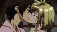 Cross Ange ep 14 Tusk and Ange kissing